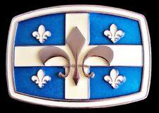 QUEBEC DRAPEAU FLEUR DE LYS FLAG BELT BUCKLE PAY BOUCLE CEINTURE DRAPEAU