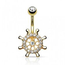 plated rack boat Piercing navel gold