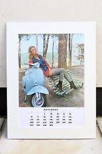 VESPA PIAGGIO Vintage NOVEMBER 1966 Calendar MODS SS 90 SCOOTER Suzy Andersen