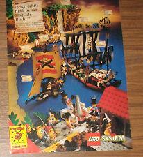 Seltene Werbung LEGO System Piraten 6271 Admiralskaravelle 6286 Schiff 1993