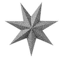 "Ikea Strala Star Pendant Lamp Shade Gray & White Snowflakes Hanging 24"""
