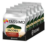 Tassimo Coffee Pods Jacobs Cafe Au Lait Coffee T-Discs  16 32 48 64 80 T-Discs
