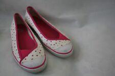 BUM Equipment White Pink Stars Fabric Ballet Flats Women's Size 9.5 M Shoes