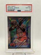 1994 Michael Jordan PSA 10 Finest W/Coating #331 Chicago Bulls HOF 🔥 GOAT!