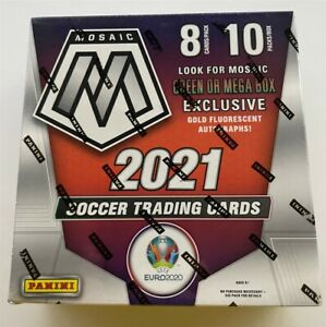 2020 2021 PANINI MOSAIC UEFA EURO SOCCER NEW FACTORY SEALED MEGA BOX AUTO LOADED