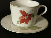 Block Poinsettia cup & saucer set