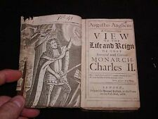 "Antique BOOK, Printed 1686, ""View of the Life and Reign of Monarch Charles II"""