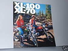 1976 Honda XL70 / XL100 Motorcycle Sales Brochure - Literature