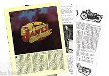 Old JAMES MOTORCYCLE Article / Photos / Pictures: CADET,