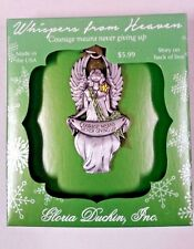 Whispers From Heaven Angel Ornament Message of Encouragement Keepsake Gift