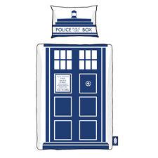 DOCTOR WHO TARDIS SINGLE DUVET SET 135 X 200CM OFFICIAL BBC GREAT GIFT