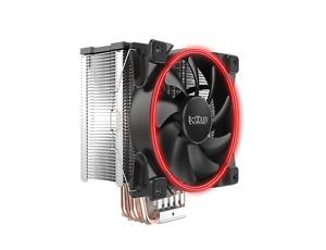 PCCOOLER GI-X5 V2 CPU-Kühler, 120mm Lüfter in Rot, 160W TDP, Für Intel und AMD