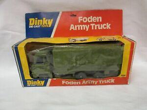 Dinky Toys die cast metal Military Foden Army Truck #668 NEAR MINT ORIGINAL BOX