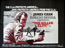KILLER ELITE 1975 Sam Peckinpah James Caan Robert Duvall UK QUAD POSTER