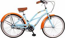 "Cruiser Bike Leader 26"" Inch 41 cm 3 Speed Woman Ladies Light blue"