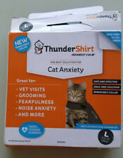 Thundershirt for Cats Heather Grey Size Large Anxiety Calming Wrap Coat