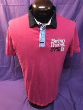 Youth BEING HUMAN 2721N Pink Cotton Extra Large Polo Shirt VGUC
