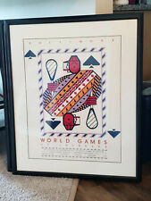 Lacrosse World Games 1982 limited edition Michael Gottleib face card poster