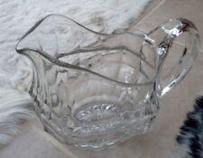 Large heavy Vintage DAVIDSON CHIPPENDALE / JACOBEAN pressed?Glass Water Jug 17cm