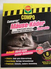(21,23€/100gr) Cumarax Mäuseköder Getreide mit Köderbox Compo Mäusegift
