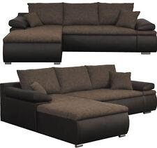 Design Couchgarnitur Braun  Schlaffunktion Sofa Eck Sofa Wohnlandschaft Li o Re