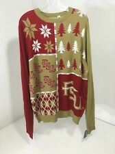 Florida State MENS Christmas Sweater Forever Collectibles Large NWT