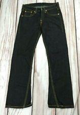 Mens Levi's 907 Black Twisted Bootcut Denim Jeans W32 L33