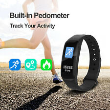 Sports Tracker Heart Rate/Blood Pressure Monitor Fitness Smart Watch Wrist Band