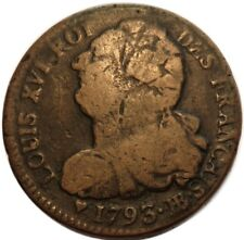 2 Sols 1793 / l'AN 5 BB - FRANCE