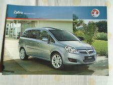 Vauxhall Zafira range brochure 2010 models Ed 2