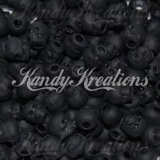 100 Black Skull matte pony beads for paracord Halloween bracelet scout Craft Kid