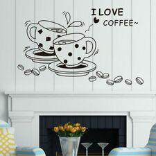 3D Coffee wall decal removable coffee cup wall sticker Kitchen Restaurant vinyl