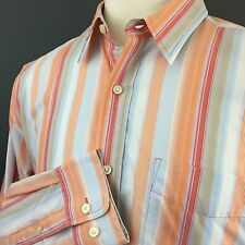 Eddie Bauer Stain & Wrinkle Resistant Striped Button Up Long Sleeve Shirt Mens L