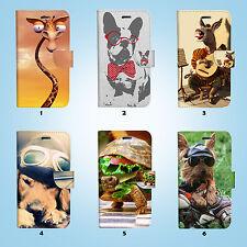 Funny Animal Flip Wallet Case Cover for Sony Xperia Z2 Z3 Z5 LG G5 054