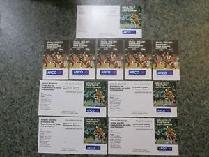 LOT OF 10 SEATTLE SUPERSONICS BASKETBALL SCHEDULES-5 FROM 1970-71 & 5 FROM 71-72