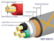NEOTECH NEP-3003 III MAINS POWER CABLE PER 0.5 METRE FOR DIY   UP-OCC COPPER