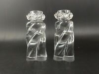 BACCARAT Pair Of Crystal Candlesticks, Aladin Pattern, France