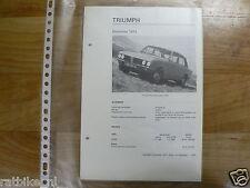 TR11-TRIUMPH DOLOMITE 1973 -TECHNICAL INFO