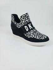 DKNY Cosmos Sneakers Wedge Heel Women Size 10 Black/White NEW