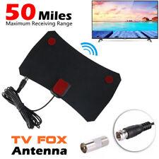 Indoor Free TV Fox HD DTV Digital TV Aerial Antena Signal Receiver Amplifier UK