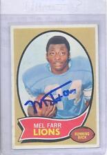 Mel Farr 1970 Topps #52 Autographed Football Card Detroit Lions UCLA DECEASED