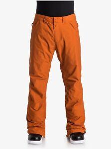 BNWT Quicksilver Boy XXL Waterproof Orange Snow Pants Outdoor Ski