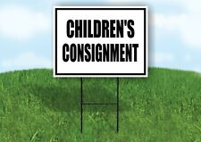Childrens Consignment Black Border Yard Sign Road With Stand Lawn Sign
