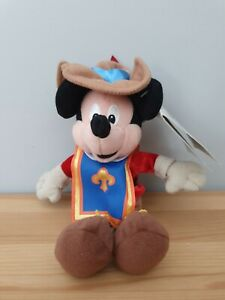 Disney Mickey Mouse Three Musketeers Promotional Soft Toy NEW RARE Plush