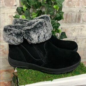 NEW Women's Khombu Jessica All Weather Bootie Black Memory Foam Pick Size