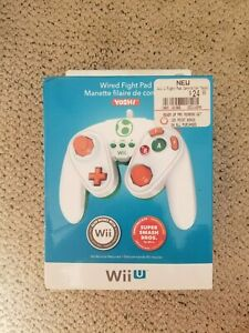 Wired Fight Pad for Wii / Wii U - YOSHI - Compatible w/ Super Smash Bros.! New!