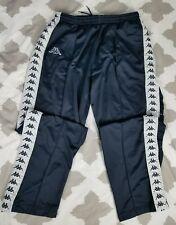 Kappa Soccer Vintage Track Button Snap up Pants 2XL XXL VTG 90s Ribbon Blue