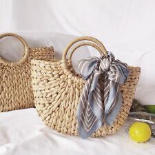 54b0c02e9c46 Women Summer Beach Tote Bag Ladies Casual Holiday Wicker Straw Rattan Bags  UK
