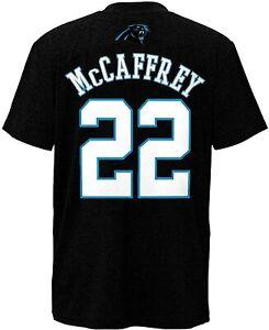 Christian McCaffrey Carolina Panthers #22 Black T Shirt Vintage Men Gift Tee New