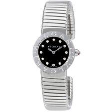 Bvlgari Bvlgari Black Lacquered Dial Diamond Medium Ladies Watch 102145